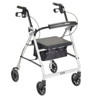 McKesson 4 Wheel Rollator Folding Aluminum Frame